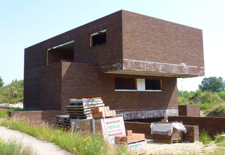 woning-WV-voorgevel-ruwbouw